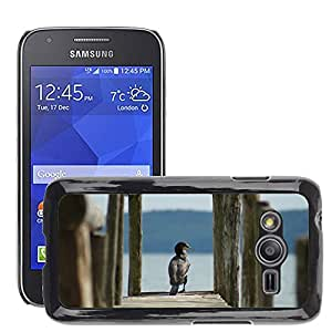 Etui Housse Coque de Protection Cover Rigide pour // M00115460 Cormorán Boardwalk Lago web Naturaleza // Samsung Galaxy Ace4 / Galaxy Ace 4 LTE / SM-G313F