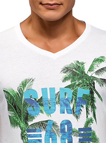 shirt En 1079p Imprimé T À V Ultra Oodji Blanc Homme Col R0wqtvB