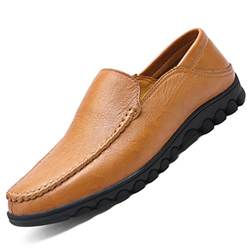 Hommes Chaussures Mocassins en PU Cuir Respirent Ourlet Basse Plat Bout Pointu Loafers L