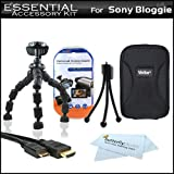 Essential Accessories Bundle Kit For Sony Bloggie Duo MHS-FS2 Video Camera Includes Deluxe Hard Case + Flexible Tripod + Mni HDMI Cable + LCD Screen Protectors + Mini Tabletop Tripod + MicroFiber Cleaning Cloth
