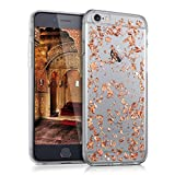 kwmobile TPU Silicone Case for Apple iPhone 6 / 6S - Crystal Clear Smartphone Back Case Protective Cover - Rose Gold Transparent