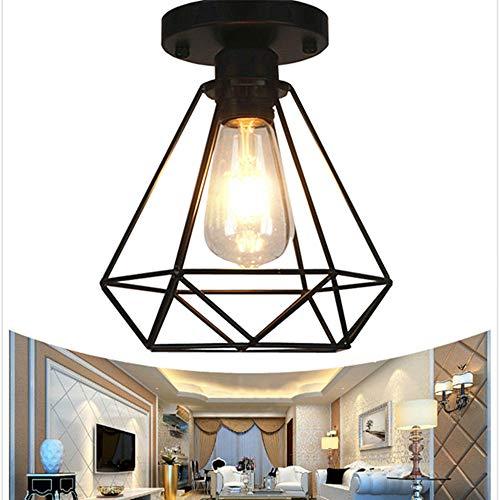 Retro Industrial Lámpara de techo de interior, Techo de Metal Lámpara de Techo Colgante de Estilo Vintage Iluminación de…