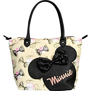 Disney Minnie Mouse W/Sequins Bows Travel Tote,Multi,One Size