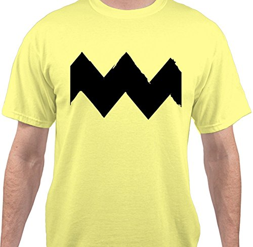 Sweet Tees™ Charlie Brown Tee Halloween Costume T-Shirt - Yellow - (Charlie Brown And Linus Halloween Costumes)
