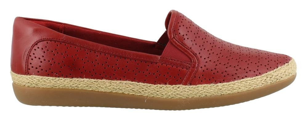 CLARKS Women's, Danelly Molly Slip on Shoes RED 8 M