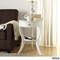 Tripod Round Wood Accent Table (White)