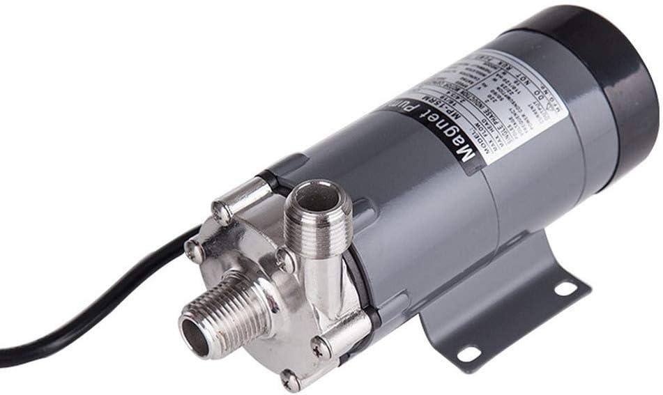 304 stainless head Magnetic Pump 15R, Homebrew,Food Grade High Temperature Resisting 140C beer Magnetic Drive Pump Home Brew (US Plug 110V)
