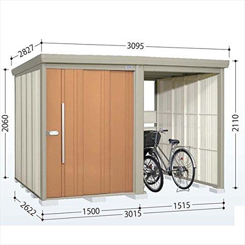 タクボ物置 TP/ストックマンプラスアルファ TP-Z3026 一般型 結露減少屋根 『駐輪スペース付 屋外用 物置 自転車収納 におすすめ』 トロピカルオレンジ B00V5KZECI