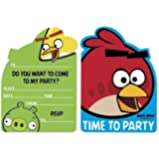 Angry Birds Party - Party Invitations & Envelopes x 6