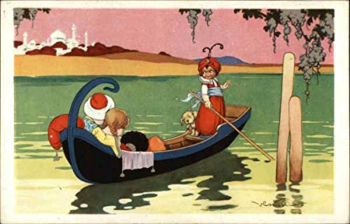 (Chidren in Gondola Children Original Vintage Postcard)