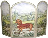 Stupell Home Décor 3 Panel Decorative Dog Fireplace Screen, Dachshund, 43 x 0.5 x 31, Proudly Made in USA Review