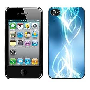 Cubierta de la caja de protección la piel dura para el Apple iPhone 4 / 4S - abstract shiny bright white stylish