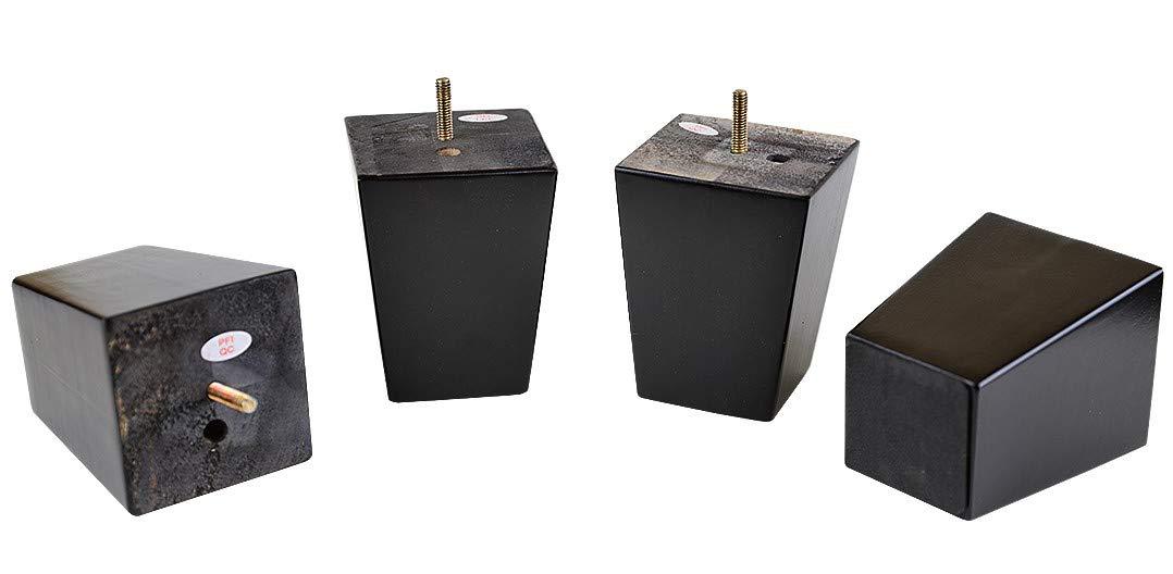 ProFurnitureParts 5'' Inch Espresso Finish Square Tapered Wood Sofa Legs Set of 4