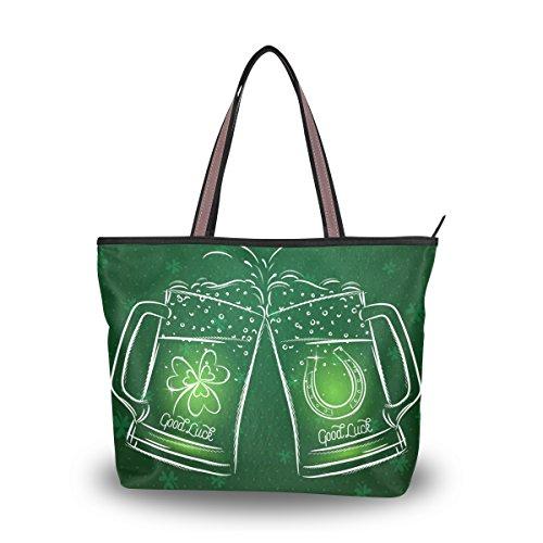 Hombro Del Grande Alaza Día Cerveza Bolso Patricio Trébol San La Totalizador De 5IfBSqf