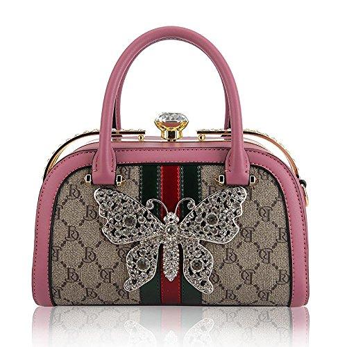 vintage pour pink à de Sac Sacs la main bandoulière Cuir à mode PU Femme Crossbody à Sac Loisirs Femme Sac messager Tote Voyager Hobo Rétro qHw4BB