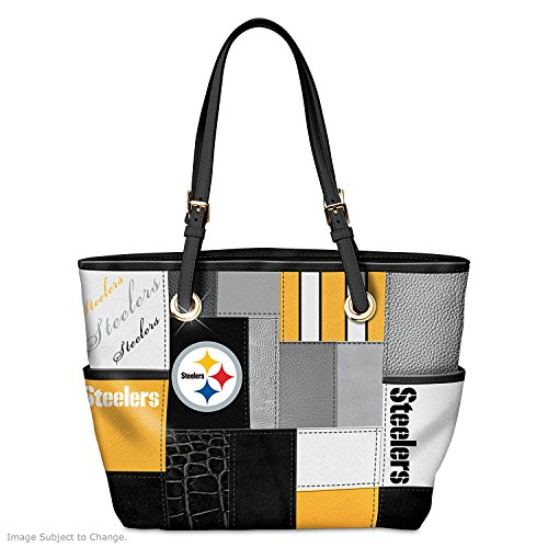 For The Love Of The Game NFL Pittsburgh Steelers Tote Bag by The Bradford Exchange
