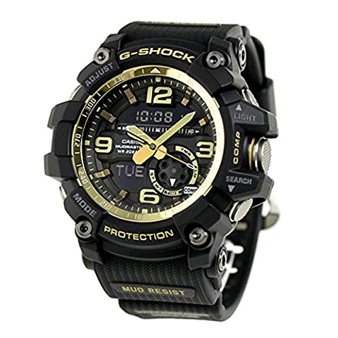 Men's Casio G-Shock Master of G Mudmaster Series Black and Gold-Tone Watch GG1000GB-1A (Gshock Watches Master Of G)