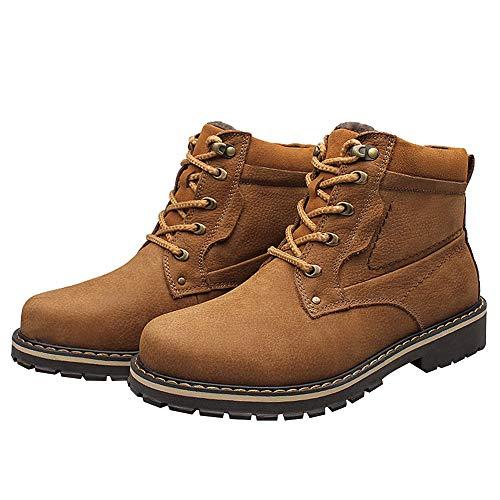 Lacets Ggudd Des Chaussures Sécurité Marron Bottes De Chaudes Cheville Classiques Hommes Travail xwqYxXO1