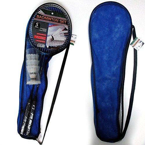 2 Badminton Rackets Tennis Set Trainning 3 Shuttlecocks Birdies Ball Sport Game