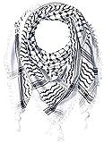 Hirbawi-Premium-Arabic-Scarf-100-Cotton-Shemagh-Keffiyeh-47x47-Arab-Scarf-Black-White