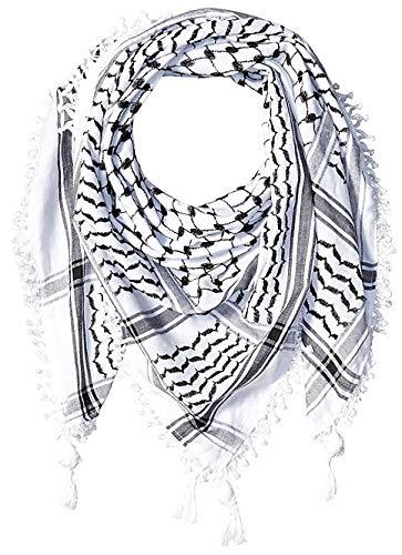 Hirbawi Premium Arabic Scarf 100% Cotton Shemagh Keffiyeh 47'x47' Arab Scarf Made in Palestine
