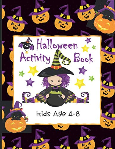 Draw A Halloween Witch (Halloween Activity Book Kids Age 4-8: Ghosts, Goblins and Witches Too, These Trick or Treat Activities Just Need You! | Mazes, Dot to Dot, Coloring Pages, Word Search Puzzles and)