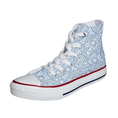 Converse All Star Customized Unisex - zapatos personalizados (Producto Artesano) Sky Paisley