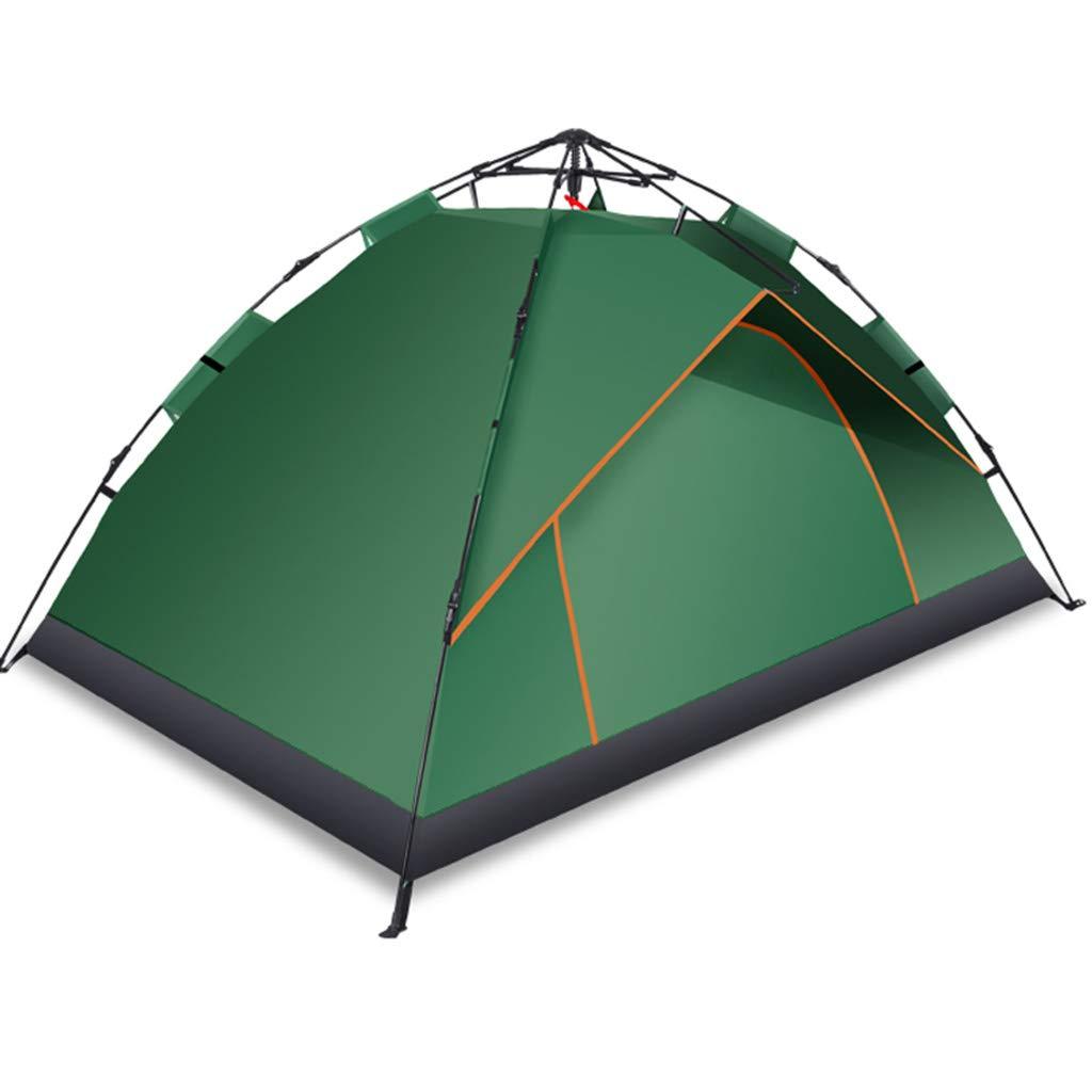 YaNanHome Zelt-im Freienzelt-hydraulische Geschwindigkeits-offenes Zelt verdicken regendichtes Zelt 1-2 Leute-kampierendes Zelt-Paar-Zelt (Farbe   Grün, Größe   210  135  110cm)