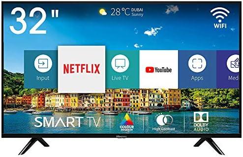 Hisense H32BE5500 Smart TV LED HD 32″, USB Media Player, Tuner DVB-T2/S2 HEVC Main10 [Esclusiva Amazon – 2019]