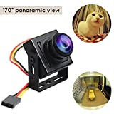 Corprit Mini HD FPV Camera 700TVL 1.8mm Lens CCTV Panorama Home Security Video Fisheye 170 Degree Wide Angle CMOS NSTC System With Full Metal Case for FPV Quadcopter Drone