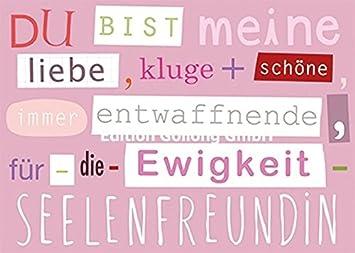 Postkarte Mit Spruch Fur Die Freundin Amazon De Burobedarf