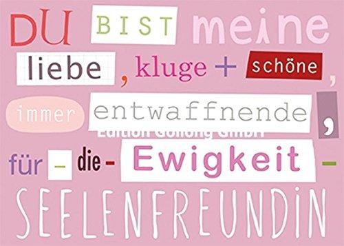 Postkarte Mit Spruch Für Die Freundin Amazon De Bürobedarf