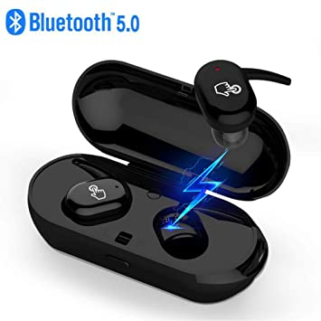 6c9c207295a Amazon.com: True Wireless Earbuds, Bluetooth 5.0 headphones TWS in-Ear  Earbuds with Mic, Touch Control Bluetooth headsets with 18H Playtime Charging  Case, ...