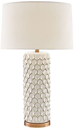 Currey And Company Calla Lily Cream Ceramic Table Lamp Amazon Com