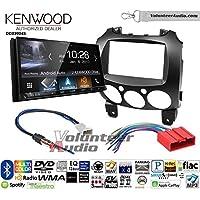 Volunteer Audio Kenwood DDX9904S Double Din Radio Install Kit with Apple CarPlay Android Auto Bluetooth Fits 2011-2014 Mazda 2