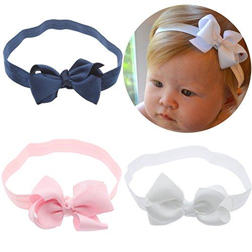 Lebo Baby Girl Headbands with Bows Baby Hair Bows 3pcs/lot