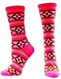 Ariat Accessories Women's Patterned Socks OS, Pink/Brown
