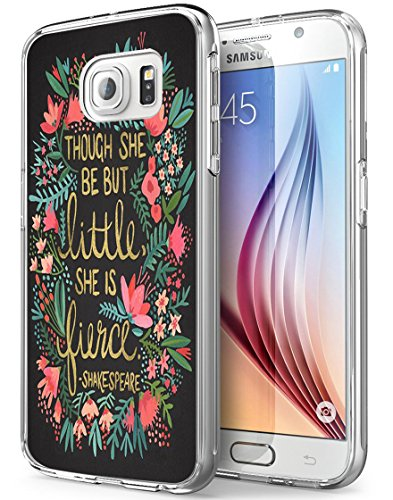 S7 Active Shakespeare,Gifun Soft Clear TPU [Anti-Slide] and [Drop Protection] Protective Case Cover for Samsung Galaxy S7 Active W Tough She Be But Little She is Fierce -Shakespeare