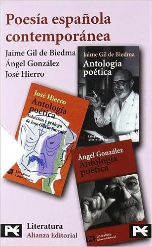 Estuche - Poesía contemporánea: José Hierro - Jaime Gil de Biedma - Angel González El Libro De Bolsillo - Estuches: Amazon.es: Gil De Biedma, Jaime, Gonzalez, Angel, Hierro, Jose: Libros