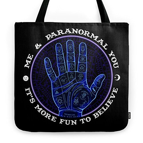 Society6 Me & Paranormal You - James Roper Design - Palmistry (white Lettering) Tote Bag 18'' x 18'' by Society6