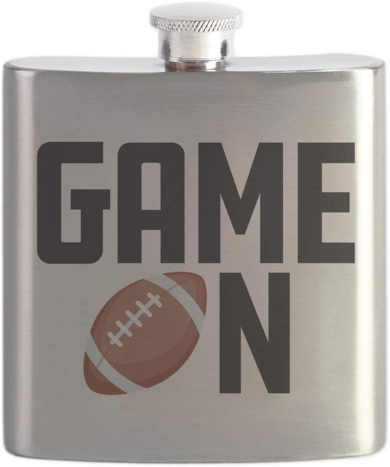 6oz Drinking Flask CafePress Emoji Football Game On Stainless Steel Flask