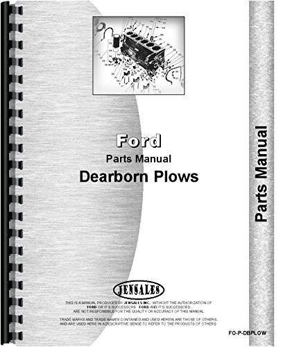 Dearborn 10-1 Plow Parts Manual ()