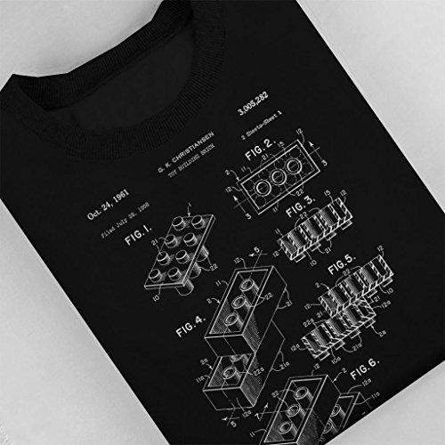 Patent Blueprint Brick Sweat Femme Lego shirt Noir 8AqzOwPzI