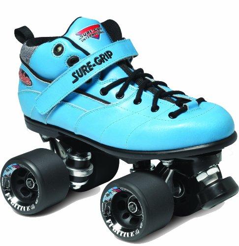 Sure-Grip Rebel Roller Skate Package - Blue sz Mens 9 / Ladies 10