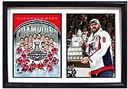 NHL Washington Capitals Mens Washington Capitals Champions MVP Double Frame, Black 12x18
