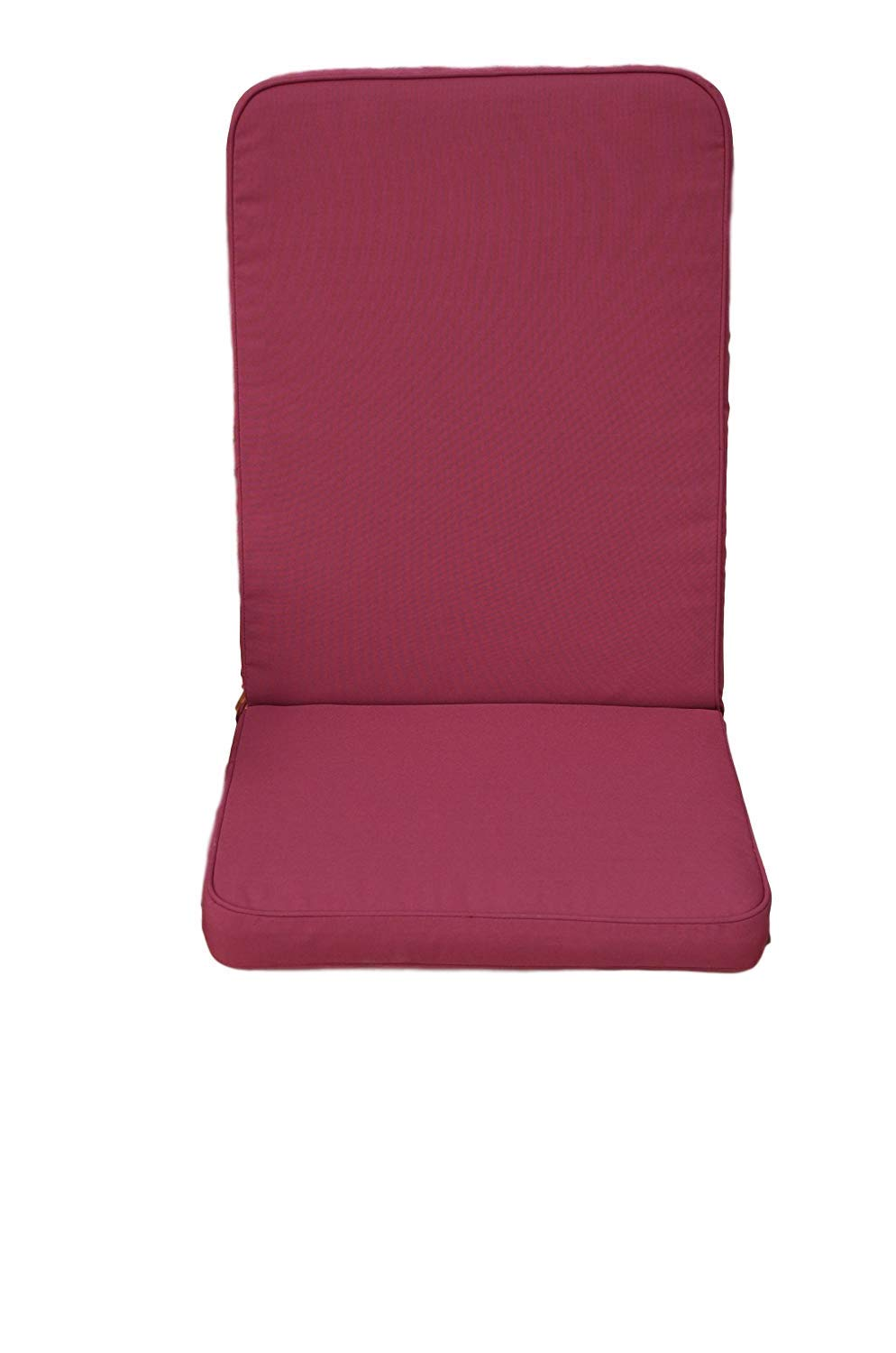 Classic Seat Pad and Back Cushion for Indoor/Outdoor Garden Chair (Pack of 2) - Cushions Only - Burgundy Patio Furniture