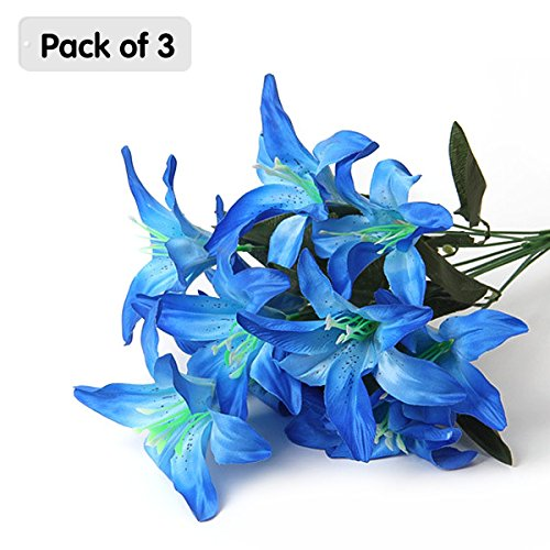 Zhi Jin Elegent Silk Artificial Lily Fake Wedding Bouquets for sale  Delivered anywhere in Canada