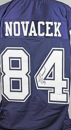 Jay Novacek Autographed Blue Jersey - PSA/DNA Authenticated