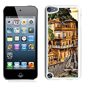 NEW Unique Custom Designed iPod Touch 5 Phone Case With Portofino Coast Mansion_White Phone Case
