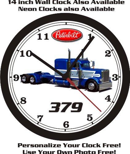 PETERBILT 379 SEMI-TRUCK WALL CLOCK-PERSONALIZED FREE & FREE USA SHIP!